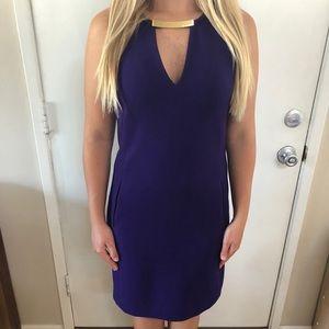Michael Kors sleeveless purple dress with pockets